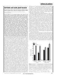 Soil biota and exotic plant invasion - Ray - University of Montana