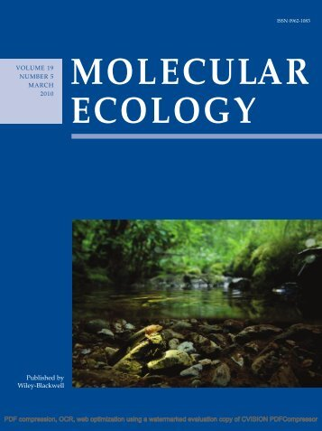 Published by Wiley-Blackwell - Division of Biological Sciences ...