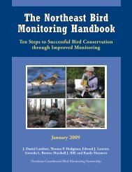 The Northeast Bird Monitoring Handbook - Avian Science Center