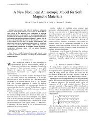 A New Nonlinear Anisotropic Model for Soft Magnetic Materials