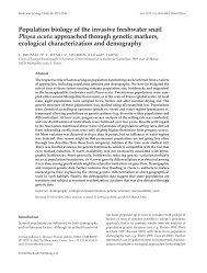 Population biology of the invasive freshwater snail Physa acuta ...