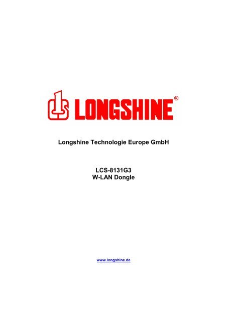 LONGSHINE LCS-8131G3 USB WIRELESS DRIVER FOR WINDOWS 8