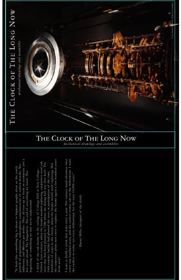 THE CLOCK OF THE LONG NOw - Long Now Foundation
