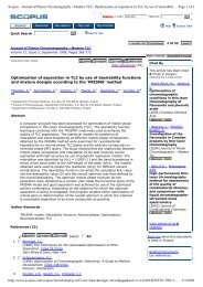 Optimization of separation in TLC by use of desirability functions and ...