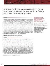 determinação de vanádio em óleo diesel por ... - Revista Analytica