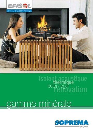 gamme minerale - Soprema