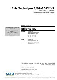 Avis Technique 5/09-2042*V1 Efilatte NL - Soprema