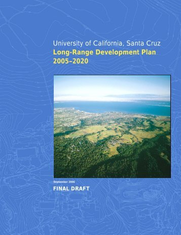 Final Draft 2005-2020 Long Range Development Plan - 2005 LRDP ...