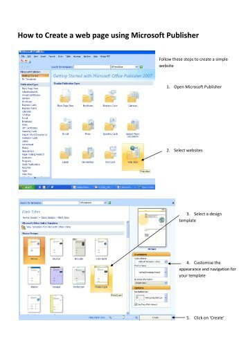 How to Create a web page using Microsoft Publisher
