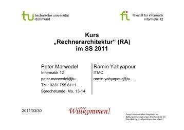 Rechnerarchitektur - TU Dortmund