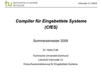 Kapitel 4: HIR Optimierungen und Transformationen - Lehrstuhl 12