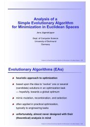 runtime analysis of a basic evolutionary algorithm - Ls2-cs.tu ...