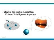Glaube, Wünsche, Absichten: Entwurf intelligenter Agenten