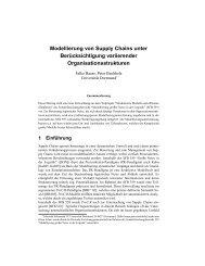 Modellierung von Supply Chains unter Berücksichtigung ...