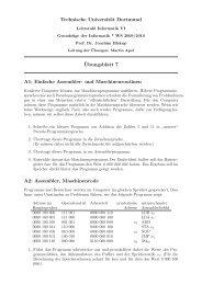 Technische Universität Dortmund ¨Ubungsblatt 7 A1 ... - Lehrstuhl VI