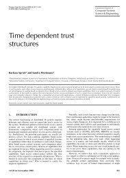 Time dependent trust structures - Ls6-informatik.uni-dortmund.de