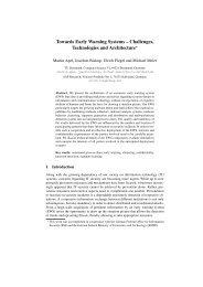Towards Early Warning Systems - Ls6-informatik.uni-dortmund.de ...