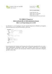 Inferenzkontrolle in Informationssystemen