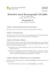 Sicherheit durch Kryptographie (SS 2008) - Lehrstuhl VI