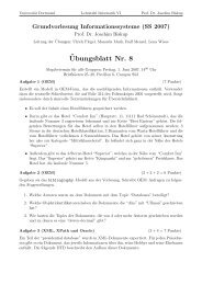 Übungsblatt Nr. 8 - Lehrstuhl VI