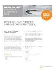 research time is money. spend it cost-effectively. - Westlaw
