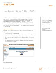 Law Review Editor's Guide to TWEN - Westlaw