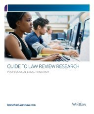 GUIDE TO LAW REVIEW RESEARCH - Westlaw