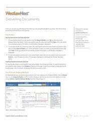 Delivering Documents - Westlaw