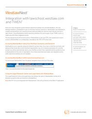 Integration with lawschool.westlaw.com and TWEN®