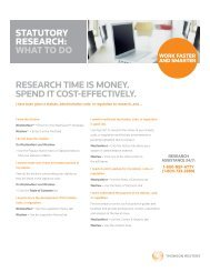 research time is money. spend it cost-effectively. statutory ... - Westlaw
