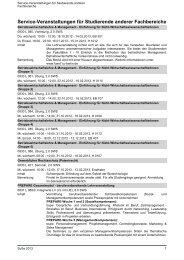 Service-Veranstaltungen für Studierende anderer ... - TU Berlin