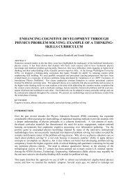 enhancing cognitive development through physics problem solving