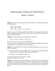 Korrespondenz-Seminar der LSGM 2010/11 Klasse 7, Serie 6