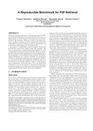 A Reproducible Benchmark for P2P Retrieval - Querying, Indexing ...