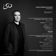 2 & 3 March programme - London Symphony Orchestra