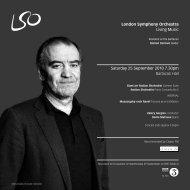 25 September programme - London Symphony Orchestra