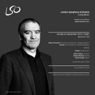 26 September programme - London Symphony Orchestra