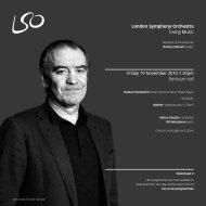 19 November programme - London Symphony Orchestra