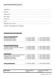Kriterienliste für den Einzelhandel