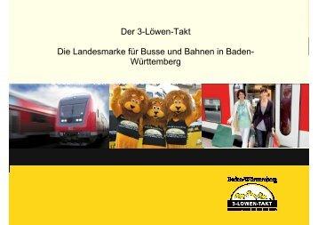 Der 3-Löwen-Takt Die Landesmarke für Busse und Bahnen in ...