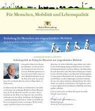 Einladungsflyer - Ministerium für Verkehr und Infrastruktur - Baden ...