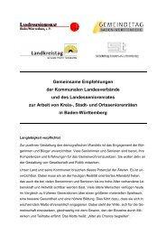 Gemeinsame Empfehlungen - Der Landesseniorenrat Baden ...