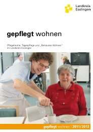 Broschuere gepflegt wohnen 2011/12 - Landkreis Esslingen