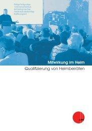 Mitwirkung im Heim - Der Landesseniorenrat Baden-Württemberg eV