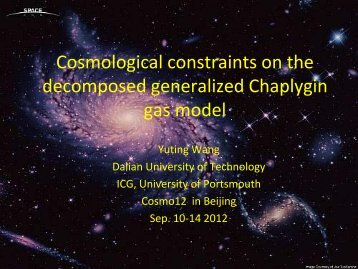 Cosmological constraints on the decomposed generalized ...