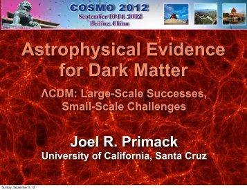 Astrophysical Evidence for Dark Matter