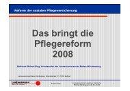 Das bringt die Pflegereform 2008 - Der Landesseniorenrat Baden ...