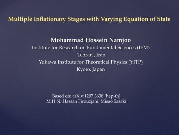 Multiple Inflationary Stages with Varying Equation of State