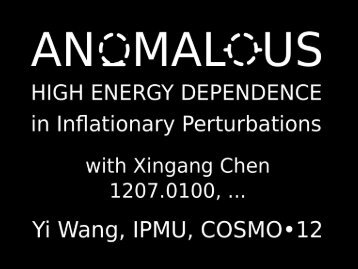 Anomalous High Energy Dependence in Inflationary Density ...