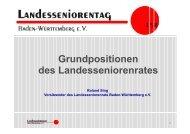 Grundpositionen - Der Landesseniorenrat Baden-Württemberg eV